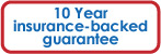 10 year insurance backed guarantee